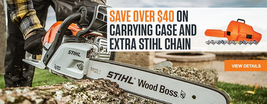 Save Over $40 on carrying case and extra STIHL chain